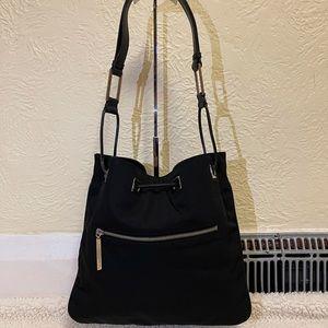 GUCCI nylon string shoulder bag in black